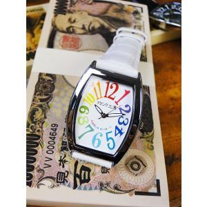 天才時計師フランク三浦の腕時計 零号機(改)通常サイズ(レインボーホワイト) アメリカ雑貨|candytower