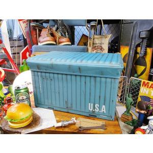 港のコンテナのストレージボックス(ブルー) アメリカン雑貨 アメリカ雑貨|candytower