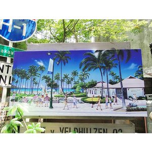 ハワイアン・キャンバスアート(ハワイ・オブ・ハワイ) アメリカン雑貨 アメリカ雑貨|candytower