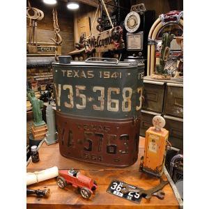 ナンバープレート・オイル缶ストレージボックス アメリカン雑貨 アメリカ雑貨|candytower