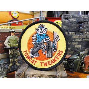 トムキャットのミリタリーワッペン(トムキャット/ツウィーカーズ) アメリカ雑貨 アメリカン雑貨