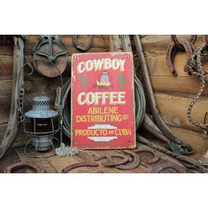 カウボーイコーヒーカクタスの木製看板 アメリカ雑貨 アメリカン雑貨 candytower