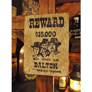 西部のお尋ね者ポスターの木製看板(ダルトン) アメリカ雑貨 アメリカン雑貨