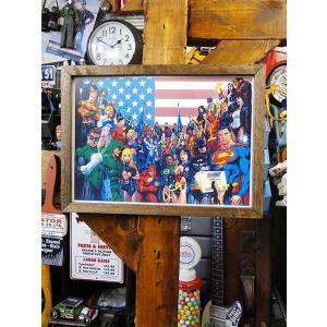 ポスターフレーム(アメコミヒーロー/オールスター) アメリカ雑貨 アメリカン雑貨 candytower