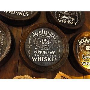 ジャックダニエルのウイスキー樽型ウォールオブジェ ■ アメリカ雑貨 アメリカン雑貨 木製看板 パブ 外国 bar|candytower