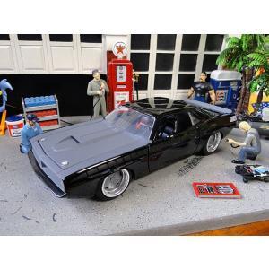 Jada 映画「ワイルドスピード」のダイキャストモデルカー 1/24スケール(レティ/プリムス・バラクーダ 1970 ブラック) アメリカ雑貨 アメリカン雑貨 candytower