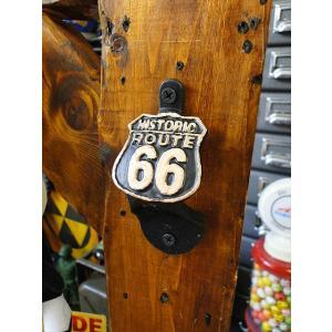 ヒストリック・ルート66のウォールマウントボトルオープナー アメリカ雑貨 アメリカン雑貨 candytower