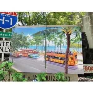 ボクらの大好きなハワイをテーマにクラシックなアートをキャンバスに描いたルームディスプレイです。  ポ...