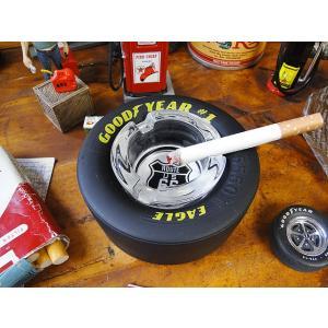 グッドイヤー&ルート66のタイヤアシュトレイ(ブラックサイン) アメリカ雑貨 アメリカン雑貨 candytower