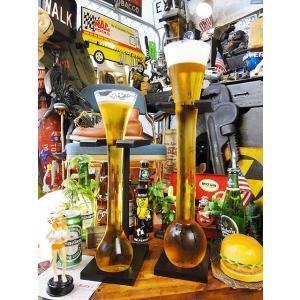 ヤードグラス SとLサイズの2個セット(ウッドスタンド付き)  ■ アメリカ雑貨 アメリカン雑貨 パブ バー pub bar|candytower