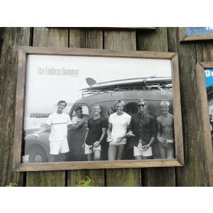 ブルース・ブラウンフィルム ムービーポスター&ウッドフレーム(エンドレスサマー/サーフワゴン) アメリカ雑貨 アメリカン雑貨 candytower