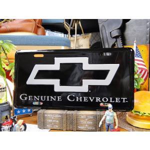シボレーボウタイエンブレムのライセンスプレート アメリカ雑貨 アメリカン雑貨|candytower