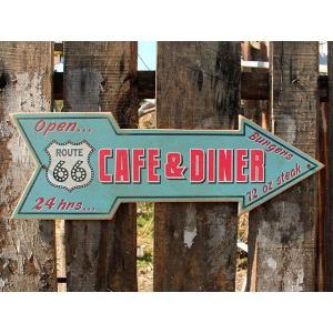 ルート66ロードサイドショップのウッドサイン(カフェ&ダイナー) アメリカ雑貨 アメリカン雑貨 candytower