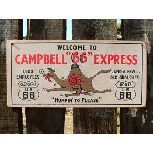 ルート66ロードサイドショップのウッドサイン(キャメルエキスプレス) アメリカ雑貨 アメリカン雑貨 candytower