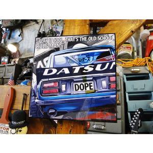 ダットサン240Zのポップアートフレーム ■ アメリカン雑貨 アメリカ雑貨 パネル ポスター|candytower