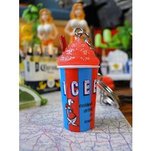 ICEE アイシーフローズンドリンクの3Dキーチェーン(レッド) ■ アメリカン雑貨 アメリカ雑貨 ...