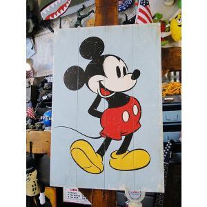 クラシックミッキーのウッドパネルアート ■ アメリカン雑貨 アメリカ雑貨