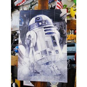 映画「スターウォーズ」R2-D2のウッドパネルアート ■ アメリカン雑貨 アメリカ雑貨