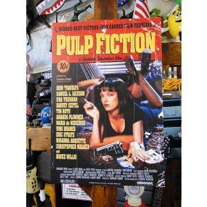 映画「パルプフィクション」劇場ポスターのウッドパネルアート ■ アメリカン雑貨 アメリカ雑貨