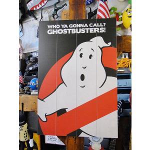 映画「ゴーストバスターズ」ノーゴーストロゴのウッドパネルアート ■ アメリカン雑貨 アメリカ雑貨