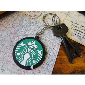 スターバックスコーヒーのラバーキーリング(ロゴ) ■ アメリカン雑貨 アメリカ雑貨