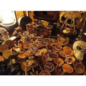 カリブ海の海賊の金貨 袋にどっさりセット ■ アメリカン雑貨 アメリカ雑貨