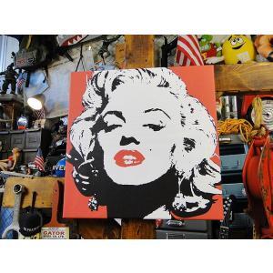 マリリン・モンローのキャンバスアート(レッド) ■ アメリカン雑貨 アメリカ雑貨 ポスター|candytower