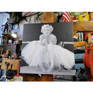 マリリン・モンローのキャンバスアート(バレリーナ) ■ アメリカン雑貨 アメリカ雑貨 ポスター