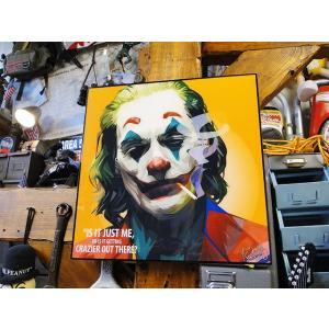 映画「ジョーカー」ホアキン・フェニックスのポップアートフレーム(TYPE3) ■ アメリカン雑貨 アメリカ雑貨 パネル ポスター|candytower