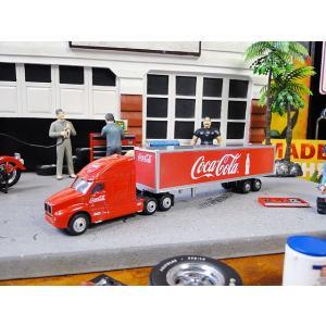 コカ・コーラ コンボイトレーラーのミニカー クラシックロングハウラー 1/87スケール ■ アメリカン雑貨 アメリカ雑貨|candytower