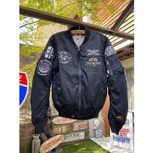 【全国送料無料】クレイスミスのMA-1ジャケット 春夏仕様 (ブラック) ■ アメリカン雑貨 アメリカ雑貨|candytower