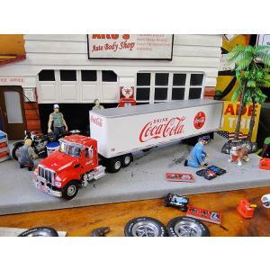 コカ・コーラ コンボイトレーラーのミニカー トラクター&トレーラー 1/50スケール ■ アメリカン雑貨 アメリカ雑貨|candytower