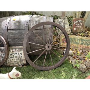 レトロな木製車輪 ウッドホイール(Lサイズ) ■ アメリカン雑貨 アメリカ雑貨|candytower