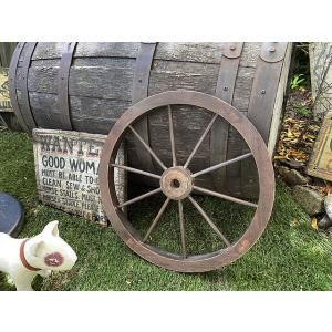 レトロな木製車輪 ウッドホイール(Sサイズ) ■ アメリカン雑貨 アメリカ雑貨 candytower