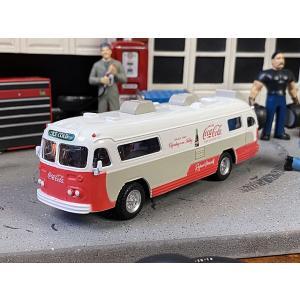 コカ・コーラ 1960年フレキブル・スターライナーバスのダイキャストミニカー 1/64スケール ■ アメリカン雑貨 アメリカ雑貨|candytower