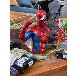 スパイダーマンのメタリックカラーバストバンク(ウェブ) ■ アメリカン雑貨 アメリカ雑貨 貯金箱|candytower