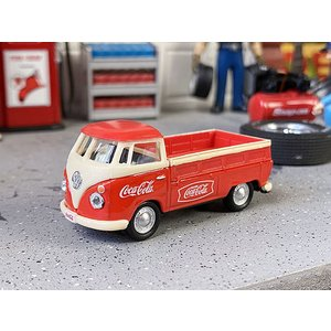コカ・コーラ 1962年フォルクス・ワーゲン タイプ1 ピックアップのミニカー 1/72スケール(レッド×アイボリー) ■ アメリカン雑貨 アメリカ雑貨|candytower