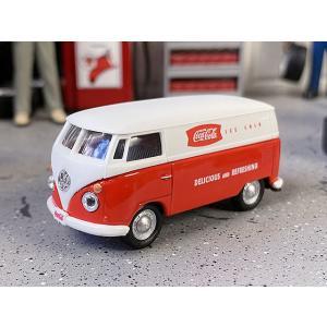 コカ・コーラ 1962年ワーゲンバスのミニカー 1/72スケール(レッド×ホワイト) ■ アメリカン雑貨 アメリカ雑貨|candytower