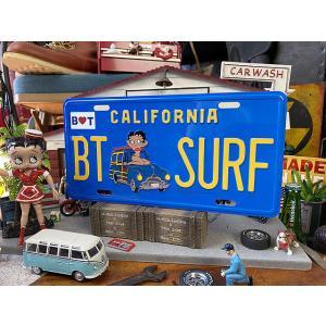 サーフベティのカリフォルニア・ライセンスプレート ■ アメリカン雑貨 アメリカ雑貨|candytower