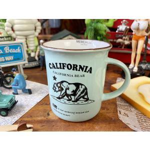 カリフォルニアベアーのホーロー風レトロマグ ■ アメリカン雑貨 アメリカ雑貨|candytower