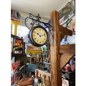 ステーションクロック(両面時計タイプ) ■ アメリカン雑貨 アメリカ雑貨|candytower