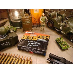 ステンシルプレート 45ピース英数字セット(2インチ) アメリカ雑貨 アメリカン雑貨|candytower