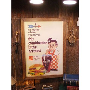 ポスターフレーム(ビッグボーイ&ハンバーガー) アメリカ雑貨 アメリカン雑貨 おしゃれ インテリア雑貨 ポスター 人気 壁掛け キャラクター|candytower