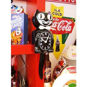 キット・キャットクロック アメリカン雑貨 電波時計 おしゃれ 壁掛け時計 人気 インテリア 雑貨 グッズ アメリカ雑貨 通販 輸入