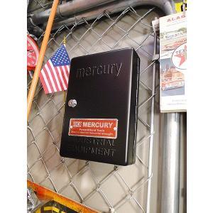 マーキュリー キーボックス(ブラック) ■ アメリカン雑貨 アメリカ雑貨 MERCURY おしゃれ 人気 男前 生活雑貨 壁掛け 玄関|candytower