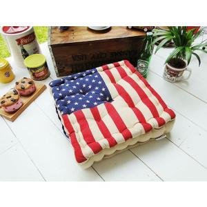 星条旗のチェアークッション アメリカ雑貨 アメリカン雑貨 玄関マット 屋内 おしゃれ 人気 インテリア おしゃれな部屋|candytower