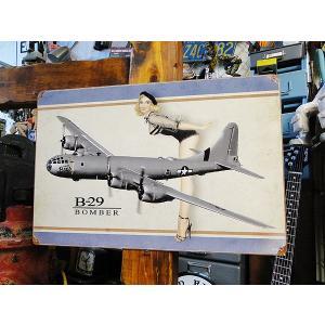 ピンナップガール&戦闘機のU.S.ヘヴィースチールサイン(B-29 ボンバー) アメリカ雑貨 アメリカン雑貨|candytower