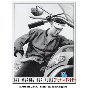 アメリカンブリキ看板 エルビス・プレスリー -ハーレーダビッドソン- ■ アメリカ雑貨 アメリカン雑貨 サインプレート ティンサインボード|candytower