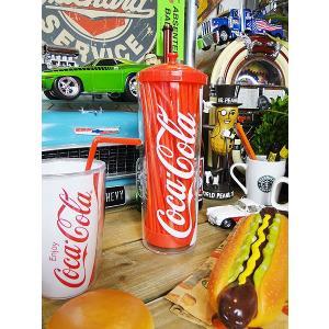 コカ・コーラブランド ストローホルダー(赤いストロー付属)  アメリカ雑貨 アメリカン雑貨