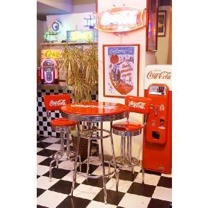 【全国送料無料】 コカ・コーラブランド ハイテーブル アメリカ雑貨 アメリカン雑貨|candytower